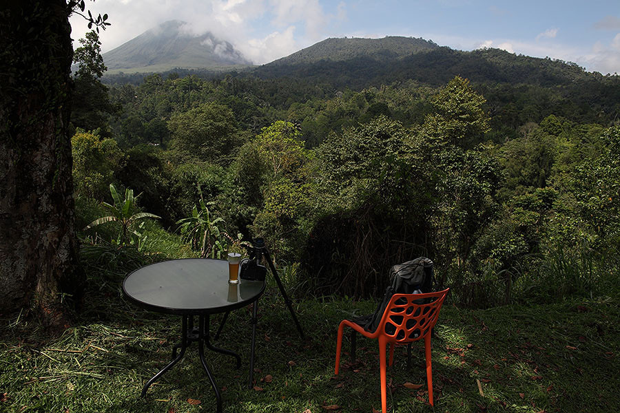 Mount Lokon - View from front of Highland Resort