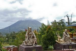Buddhas with Mt. Lokon